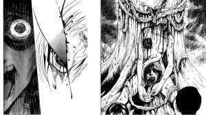 Aguas si acaban de comer, esto esta muy explicito, jeje del lado izquierdo una muestra de lo leve que encontraran en Sugar Dark, y del lado derecho la imagen para mi mas representativa de Goth, ambos de Kenji (amo a ese hombre ♥)